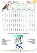 Mots cachés : Les oiseaux du jardin
