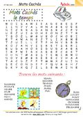 Mots cachés : Le temps
