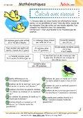 Calculs avec des oiseaux