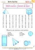 Mots Cachés : les formes de base