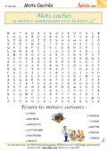 Mots Cachés : Métiers commençant par la lettre L