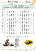 Mots Cachés : Métiers commençant par la lettre A