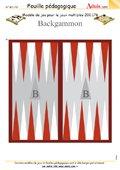 Modèle de jeu Backgammon, N° 200.176