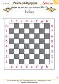 Modèle de jeu Echec - Jeux Multiples, N° 200.176