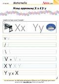 Ecriture - Lettre X et Y
