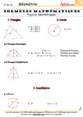 Formules mathématiques - Figures géométriques