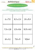 Multiplier les nombres décimaux
