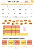 Décimaux, fractions et taux de pourcentage