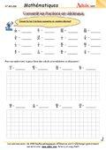 Convertir les fractions en décimaux