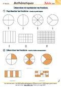 Déterminer et représenter les fractions