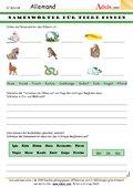 Namenwörter für Tiere finden