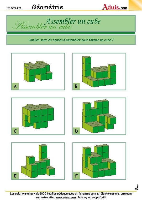 Assembler un cube