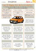 Les 10 règles d'or de la circulation !