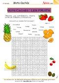 Mots cachés : Les fruits