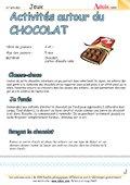 Activités et Jeux autour du chocolat