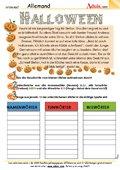 Halloween Wortarten