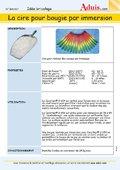 Cire pour immersion - Informations Produits