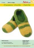 Chaussons tricotés - feutrés