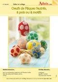 Œufs de Pâques feutrés, à pois ou à motifs