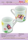 Tasse porcelaine au Design Papillons