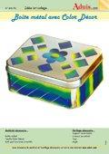 Boîte-métal avec Color Décor