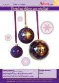 Boules déco en violet