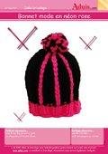 Bonnet mode en néon rose