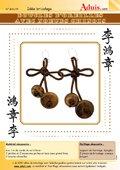 Boucles d'oreilles avec nœuds chinois