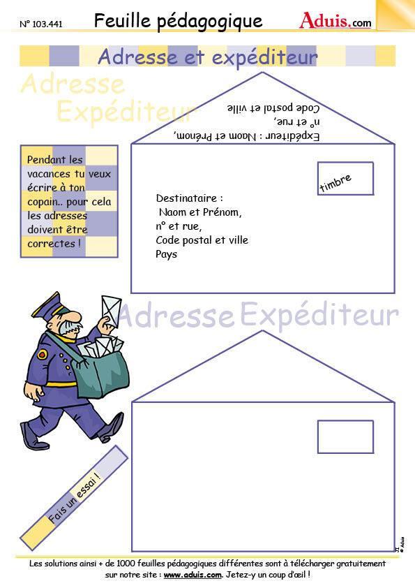 Adresse et expéditeur