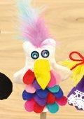 Marionnette de doigts - Oiseau du Paradis
