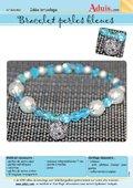 Bracelet perles bleues
