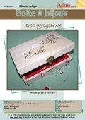 Boîte à bijoux avec pyrogravure