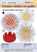 Formes étoiles en paille - Instructions de base