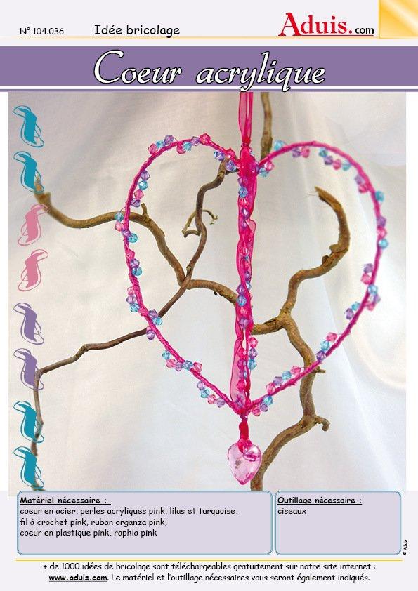 Cœur acrylique