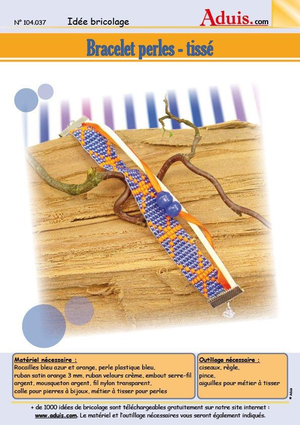 Bracelet perles - tissé