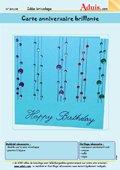 Carte d'anniversaire brillante