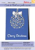 Carte de Noël avec perles nacrées