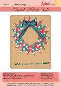 Carte de Noël avec étoiles