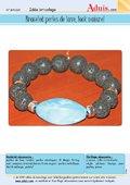 Bracelet perles de lave, look naturel