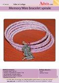 Memory Wire bracelet spirale