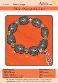 Bracelet avec perles de lave