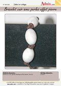 Bracelet cuir avec perles effet pierre