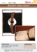 Bracelet ruban velours