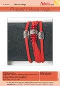 Bracelet velours rouge