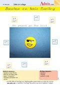 "Boutons en bois ""Smiley"""