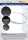 Collier métal argent-noir