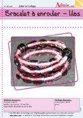 Bracelet à enrouler -lilas