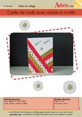 Carte de Noël avec ruban à motifs