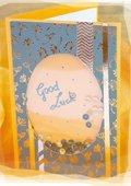 Carte de vœux avec paillettes
