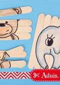 Puzzles en bâtonnets en bois